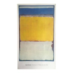 "Monumental Rothko exhibition offset lithographic poster for MoMA: ""No. 10"""