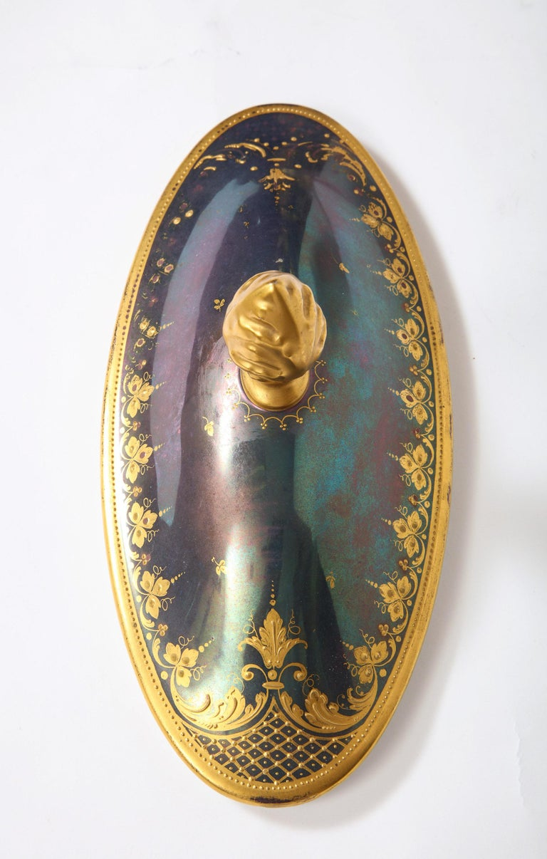 Monumental Royal Vienna Iridescent Porcelain Portrait Vase and Cover, Wagner For Sale 14