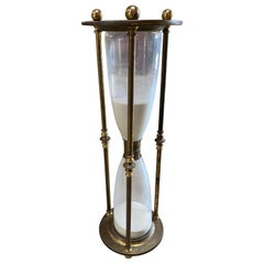 Monumental Scale Italian Walnut Hour Glass, 1900