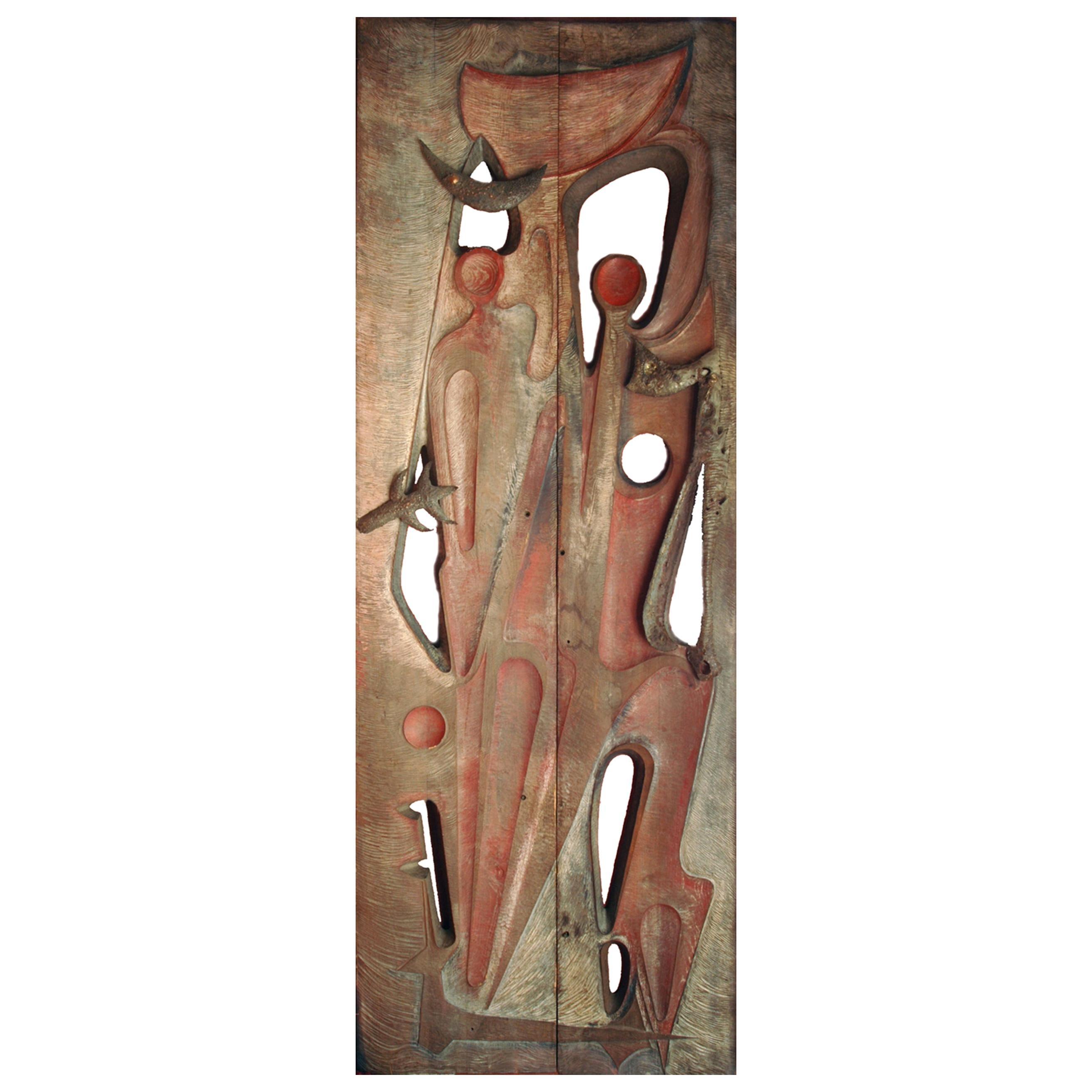 Monumental Sculpted Door by Gilbert de Smet