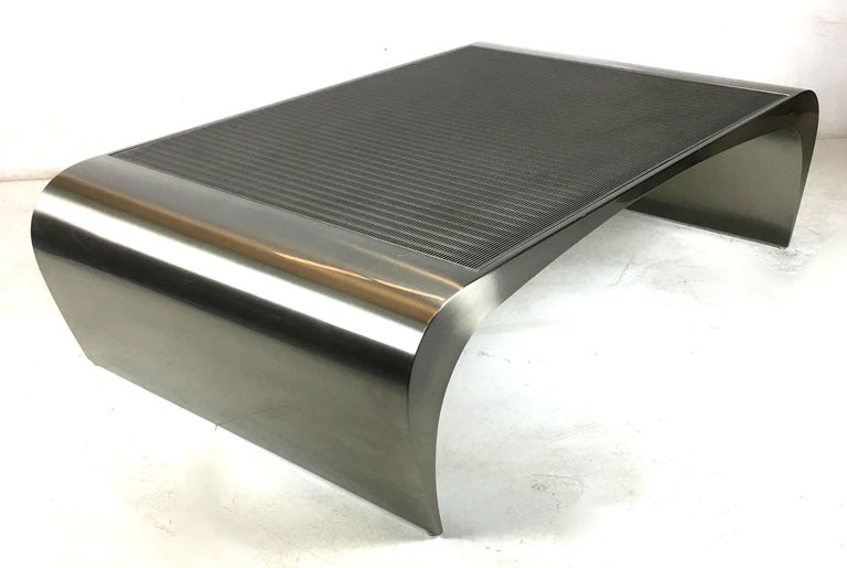 American Monumental Sculptural Coffee Table by Brueton For Sale