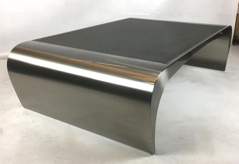 Late 20th Century Monumental Sculptural Coffee Table by Brueton For Sale