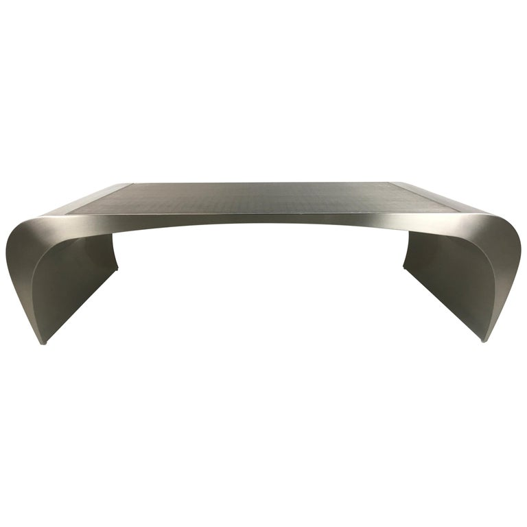 Monumental Sculptural Coffee Table by Brueton For Sale