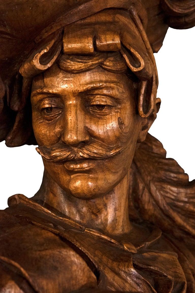 Renaissance Monumental Sculpture of Swiss Guard, circa 1865 For Sale