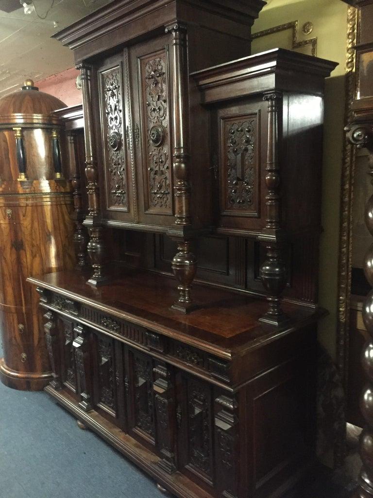 Victorian Monumental  Wilheminian Buffet, circa 1880 Walnut For Sale