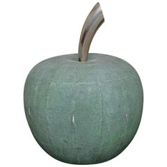 Monumental Shagreen and Horn Apple by Serge de Troyer, France, 2018