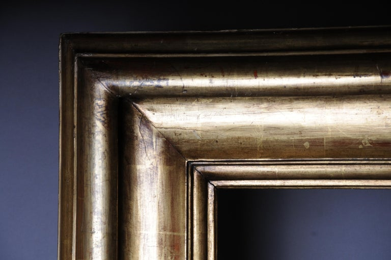 Monumental Sheet Gilded Mirror Frame / Picture Frame, circa 1850 11