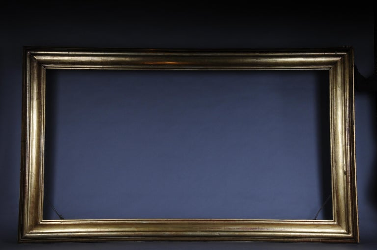 Monumental Sheet Gilded Mirror Frame / Picture Frame, circa 1850 12