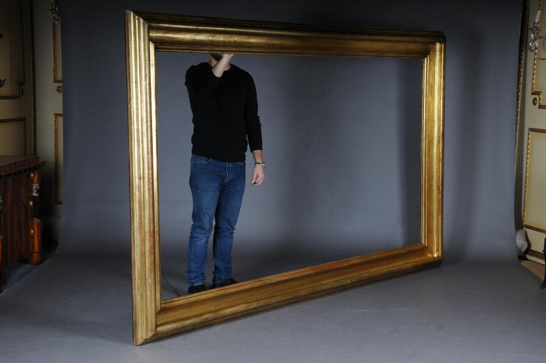Monumental Sheet Gilded Mirror Frame / Picture Frame, circa 1850 2