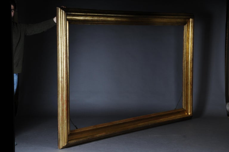 Monumental Sheet Gilded Mirror Frame / Picture Frame, circa 1850 3