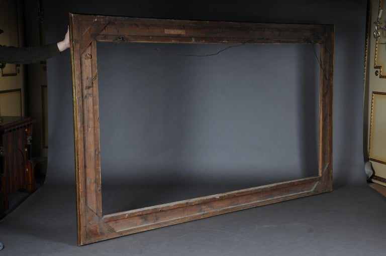 Monumental Sheet Gilded Mirror Frame / Picture Frame, circa 1850 6