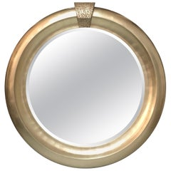 Monumental Silver Round Mirror by Jimeco, 1996