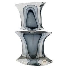 Monumental Sommerso Murano Art Glass Perfume Signed by Mandruzzato