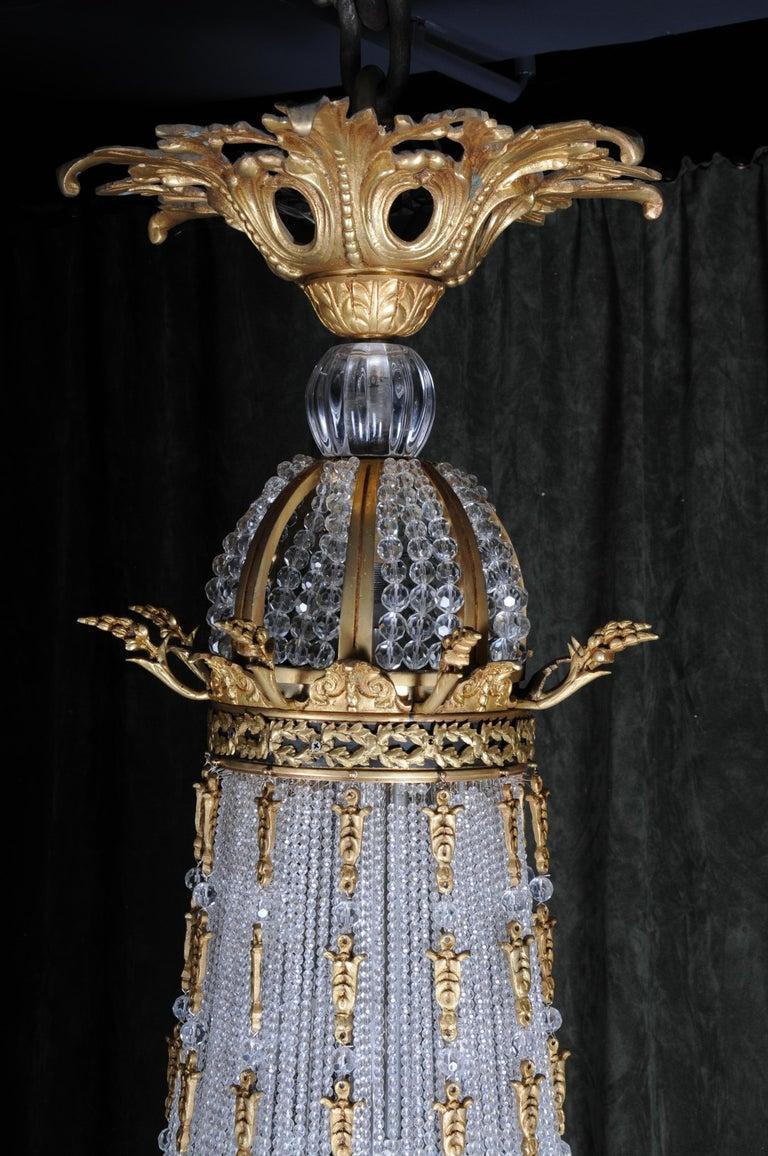 Monumental Splendid Classicist Ceiling Candelabra/Chandelier Empire Style For Sale 4