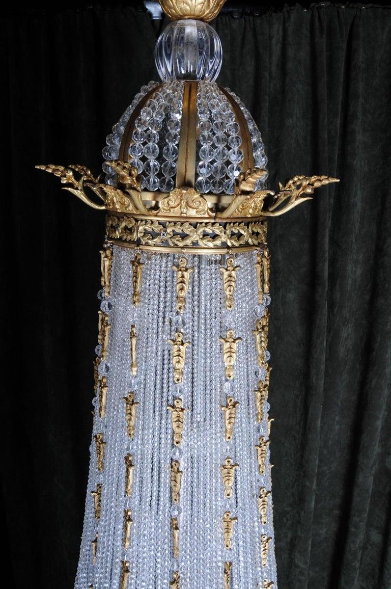 Monumental Splendid Classicist Ceiling Candelabra/Chandelier Empire Style For Sale 6