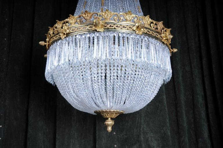 Monumental Splendid Classicist Ceiling Candelabra/Chandelier Empire Style For Sale 7