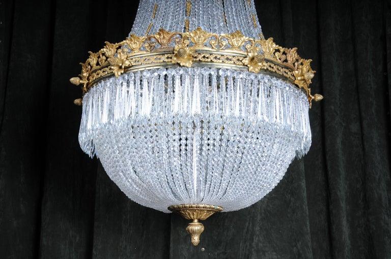 Monumental Splendid Classicist Ceiling Candelabra/Chandelier Empire Style For Sale 8