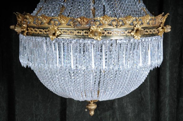 Monumental Splendid Classicist Ceiling Candelabra/Chandelier Empire Style For Sale 9