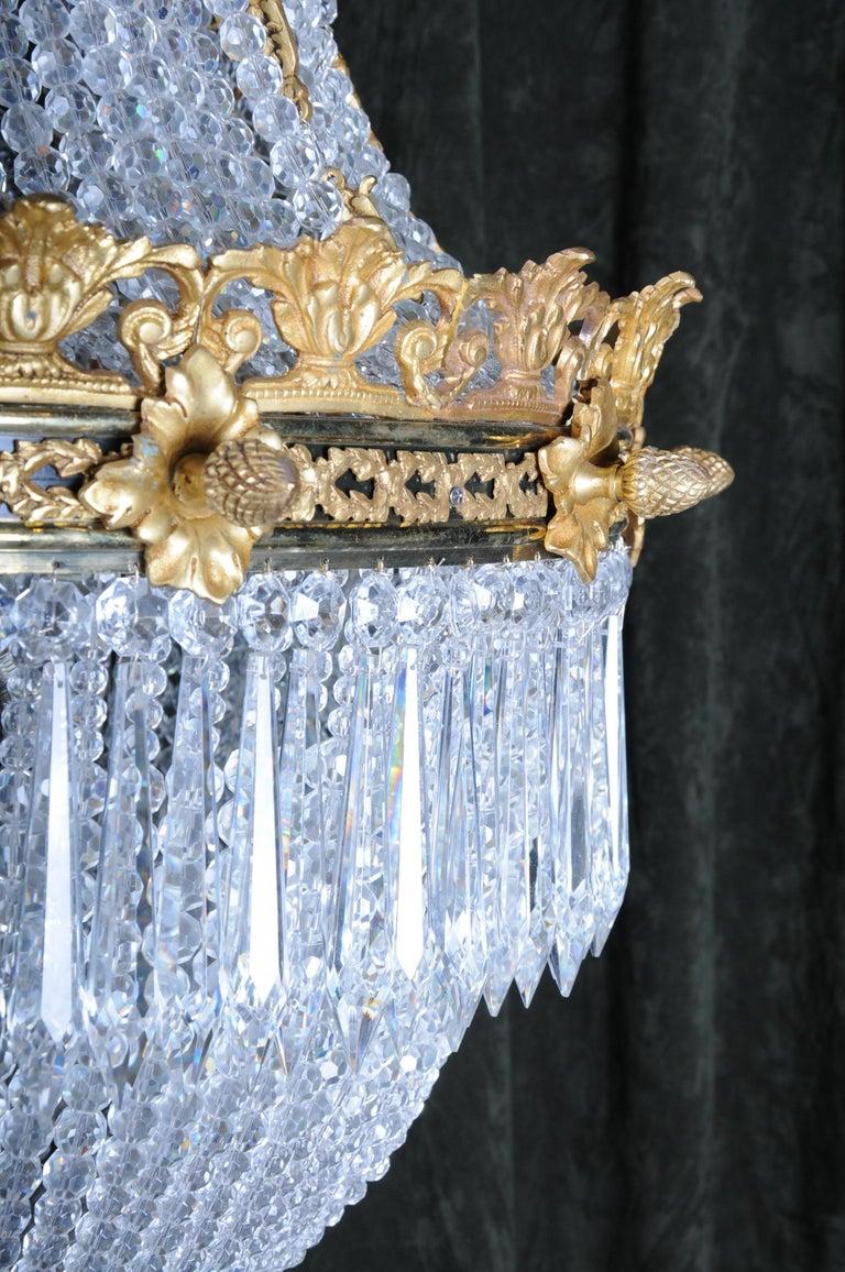 Monumental Splendid Classicist Ceiling Candelabra/Chandelier Empire Style For Sale 10