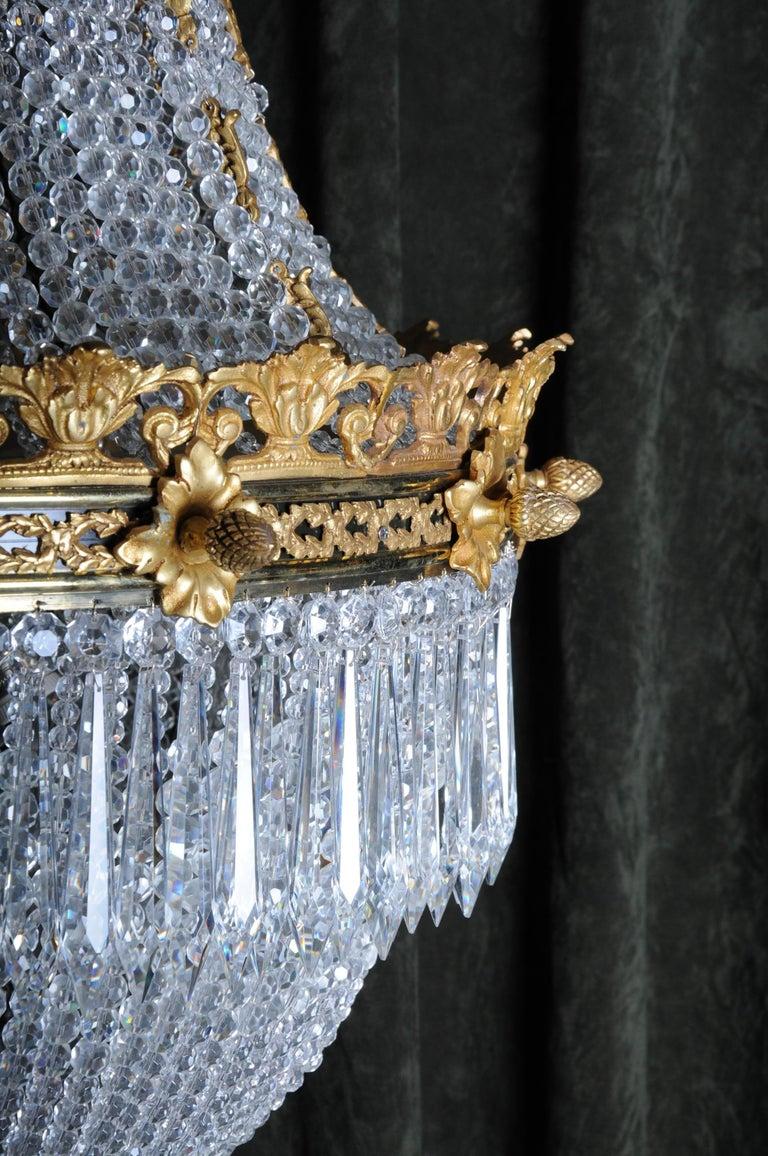 Monumental Splendid Classicist Ceiling Candelabra/Chandelier Empire Style For Sale 11