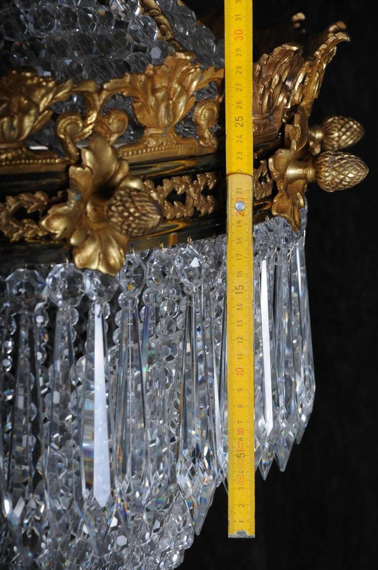 French Monumental Splendid Classicist Ceiling Candelabra/Chandelier Empire Style For Sale