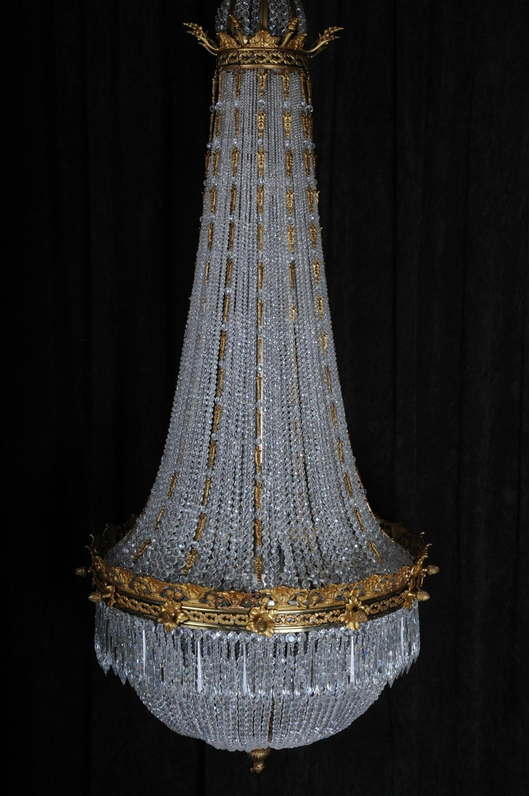 20th Century Monumental Splendid Classicist Ceiling Candelabra/Chandelier Empire Style For Sale