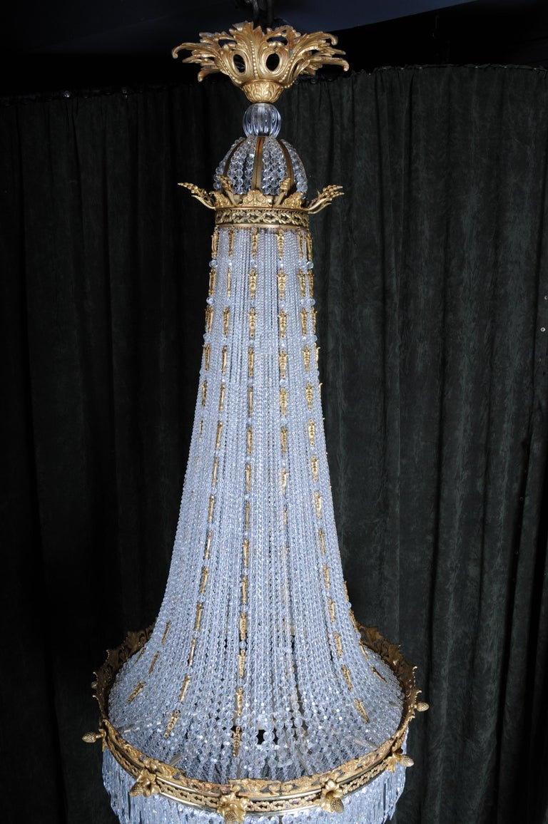 Monumental Splendid Classicist Ceiling Candelabra/Chandelier Empire Style For Sale 1