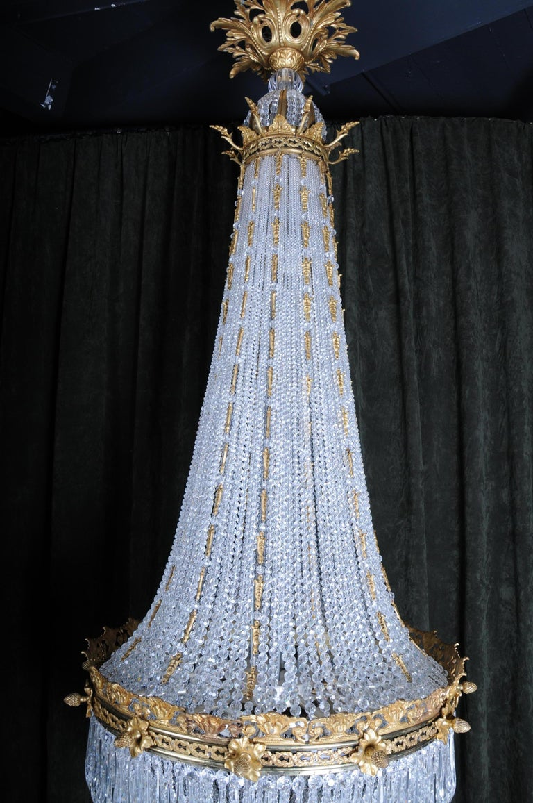 Monumental Splendid Classicist Ceiling Candelabra/Chandelier Empire Style For Sale 2