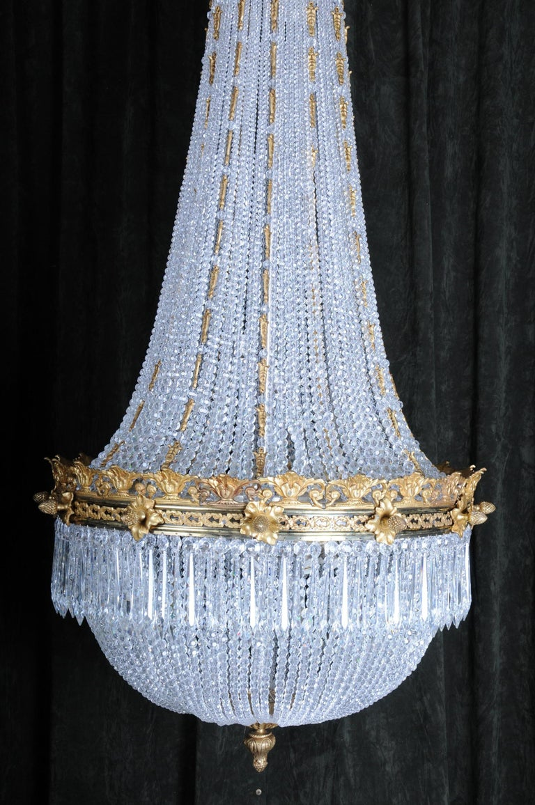 Monumental Splendid Classicist Ceiling Candelabra/Chandelier Empire Style For Sale 3