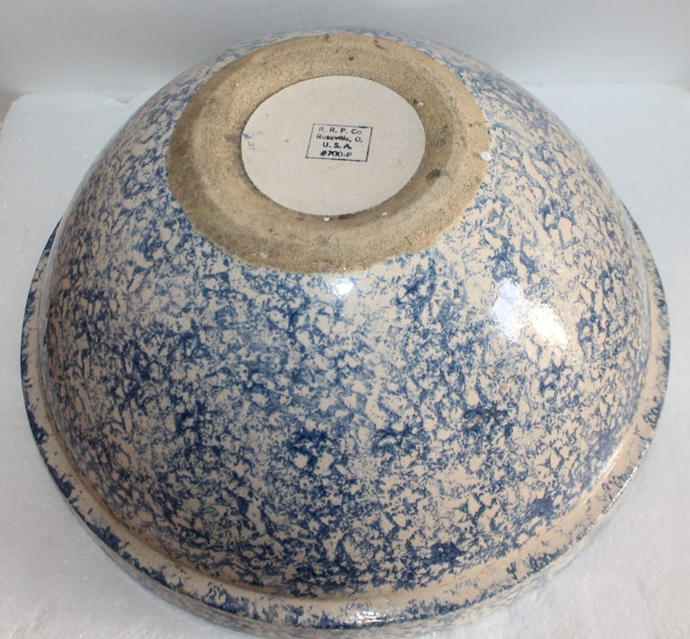 Monumental Sponge Ware Pottery Bowl In Good Condition For Sale In Los Angeles, CA