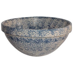 Monumental Sponge Ware Pottery Bowl