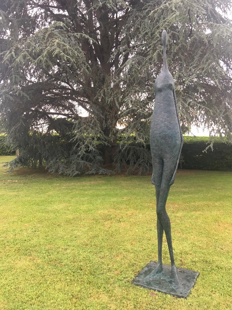 French Monumental Standing Figure II, Large Outdoor Sculpture For Sale