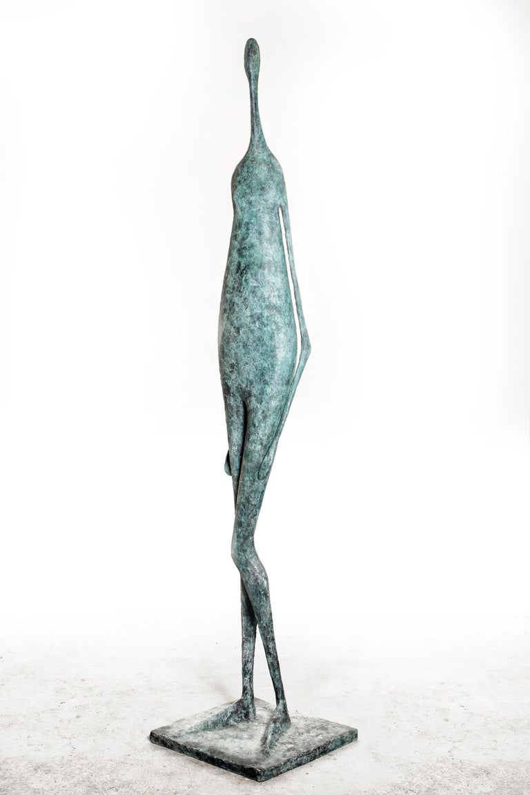 Cast Monumental Standing Figure II, Large Outdoor Sculpture For Sale