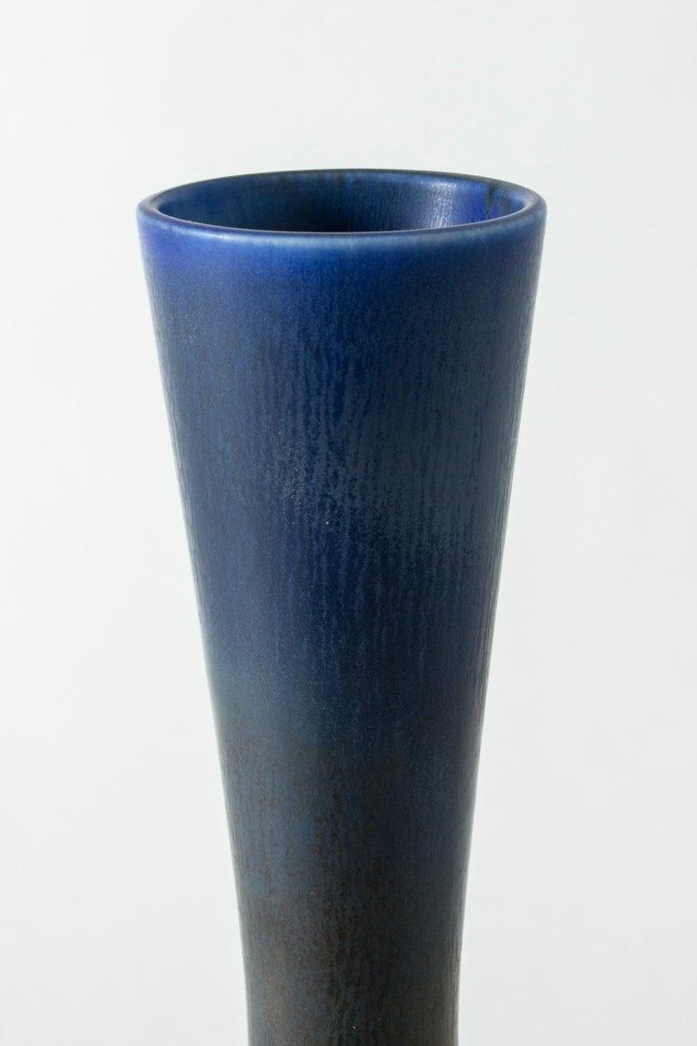 Mid-20th Century Monumental Stoneware Vase by Berndt Friberg for Gustavsberg, Sweden, 1950s For Sale