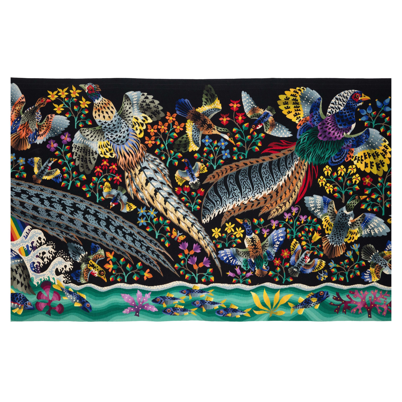 "Monumental Tapestry by René Perrot, The Great Waterfall ""La Grande Cascade"""