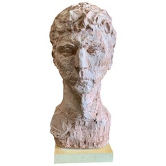Monumental Terracotta Bust of a Man