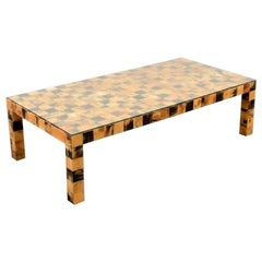 Monumental Tessellated Horn Cocktail Table, 1970s, USA