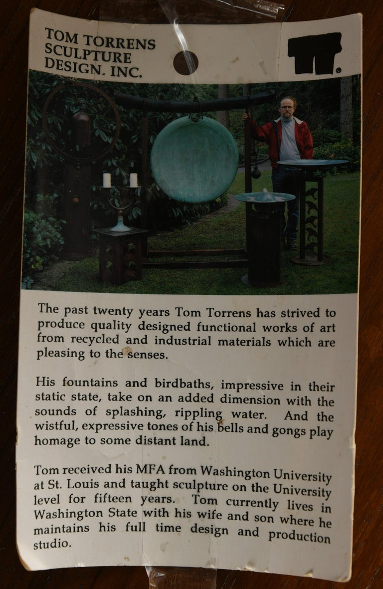 Monumental Tom Torrens Bell Sculpture, 20th Century For Sale 2