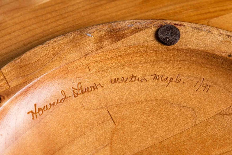 Monumental Turned Wood Bowl In Good Condition For Sale In Dallas, TX