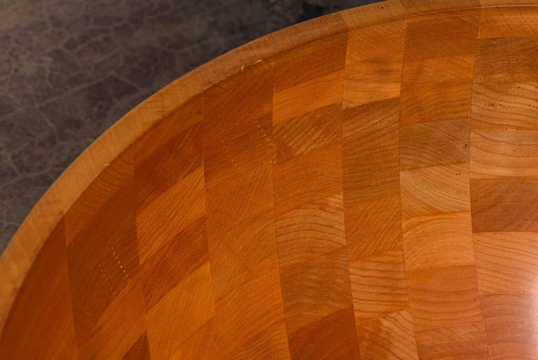 Maple Monumental Turned Wood Bowl For Sale
