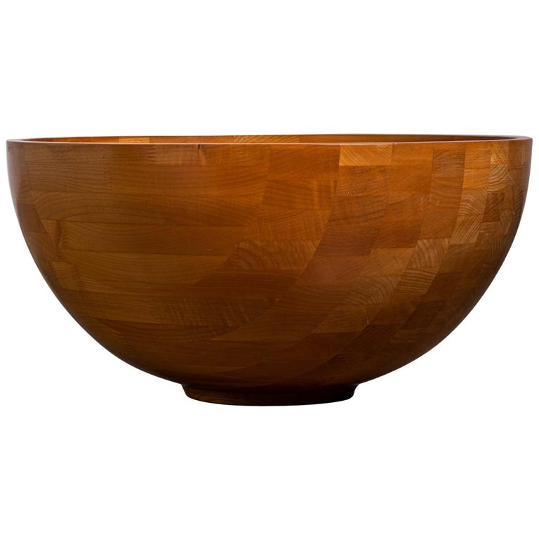 Monumental Turned Wood Bowl For Sale