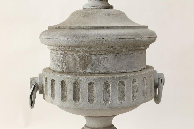 Neoclassical Monumental Urn-Shape Zinc Finial For Sale