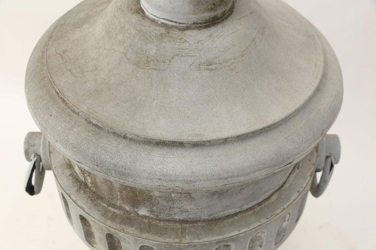 Monumental Urn-Shape Zinc Finial For Sale 1