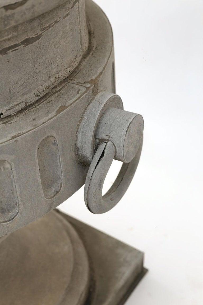 Monumental Urn-Shape Zinc Finial For Sale 3