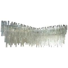 Monumental Venini Triedri Glass Prism Wall Corner Sconce