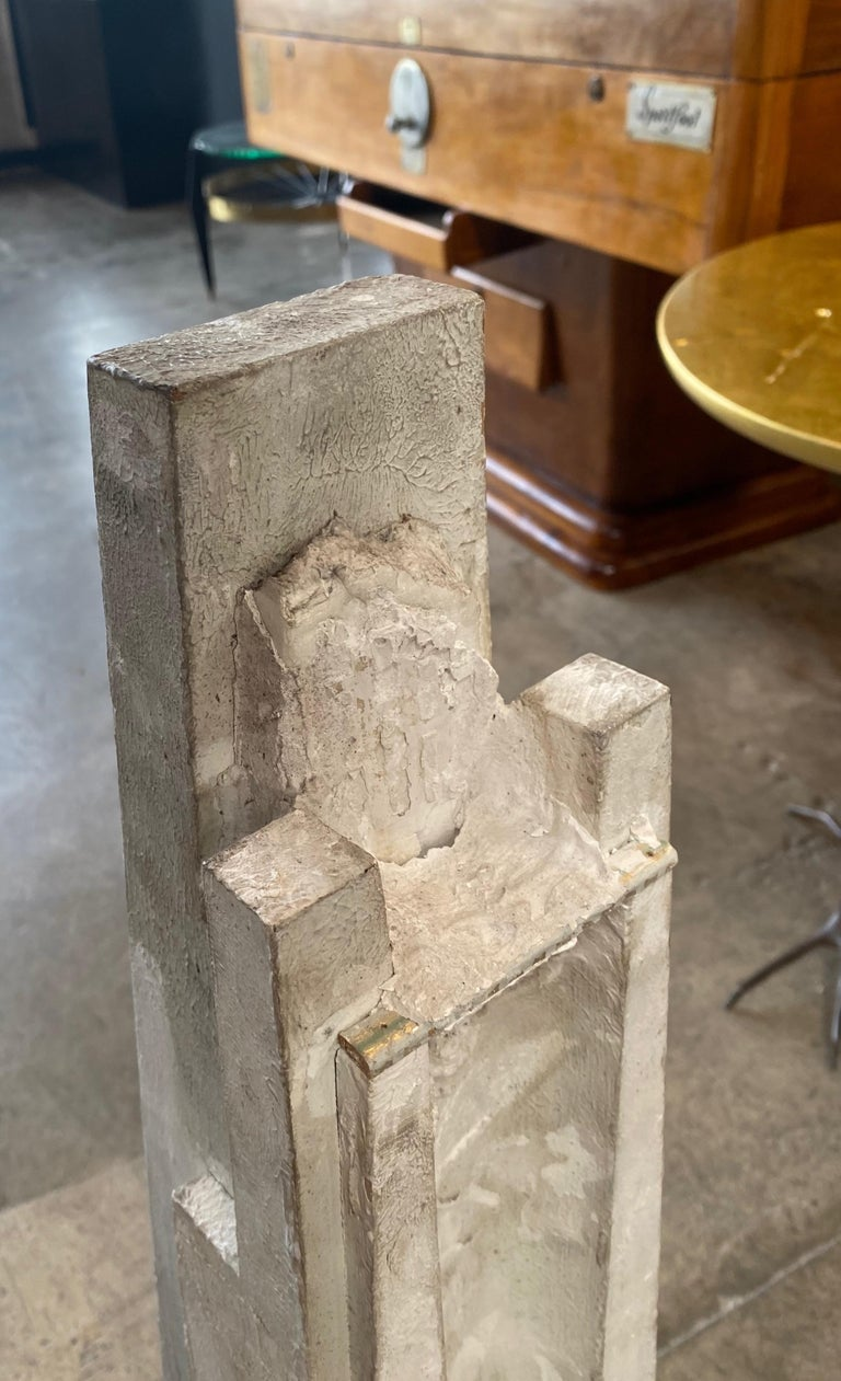 Plaster Monumental Vintage Statuary Obelisk, Italy, 1940s For Sale