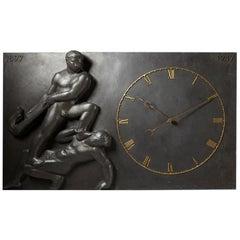Monumental Wall Clock, Anonymous, Denmark, 1947