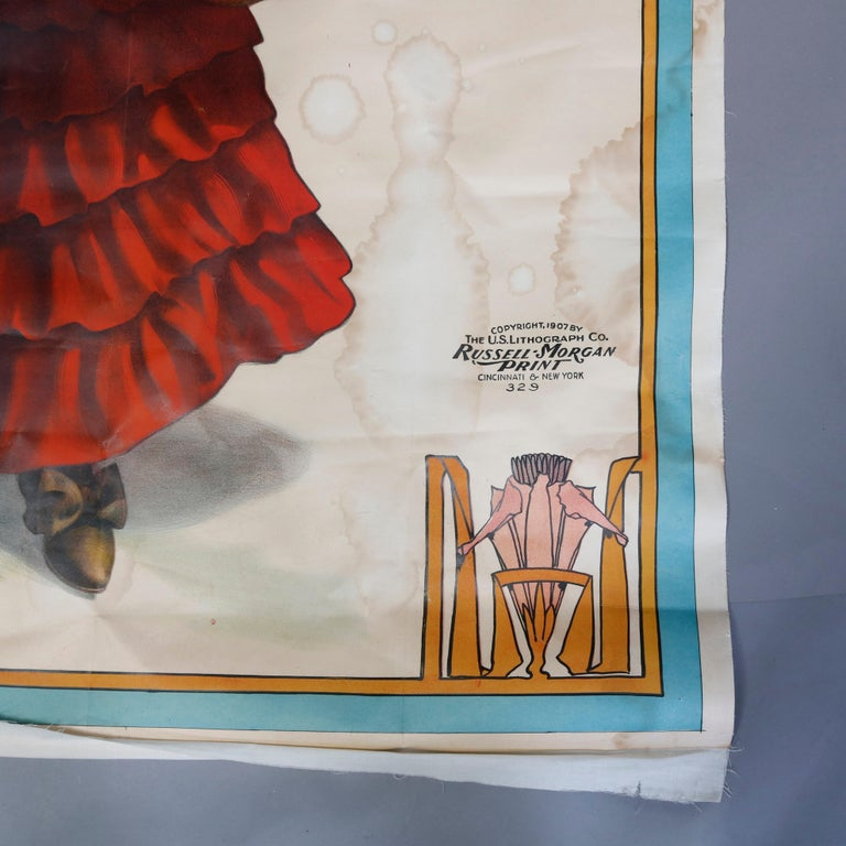 Monumental Wall-Size Original Theatre Stage Poster on Canvas