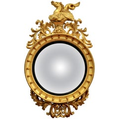 Monumental William IV Convex Bullseye Mirror