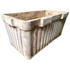 Monumental Willy Guhl Ridged Trough Planters